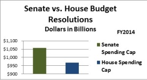FY2014 Senate vs House Budget Resolutions