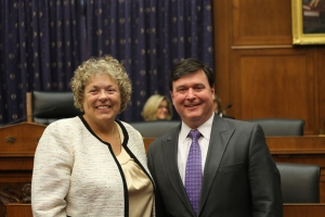 Paula Koos with Subcommittee Chairman Rokita