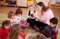 teacher and kids circle time
