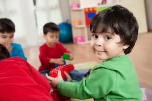 preschool boy green shirt